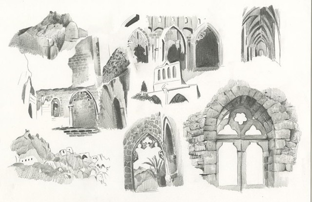 Sketches of Bellapais Abbey