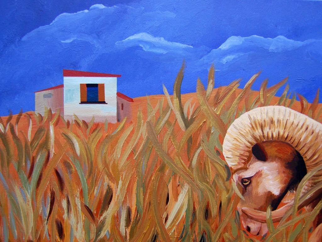 mouflon-in-long-grass-45x60
